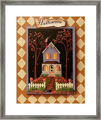 Halloween Hill Framed Print by Catherine Holman