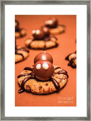 Halloween Homemade Cookie Spiders Framed Print