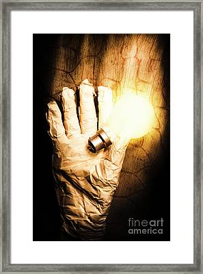 Halloween Ideas Concept Framed Print