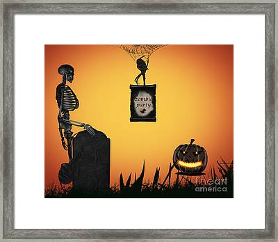 Halloween Party Night Framed Print by Dani Prints and Images
