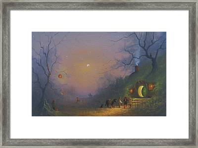 A Shire Halloween  Framed Print