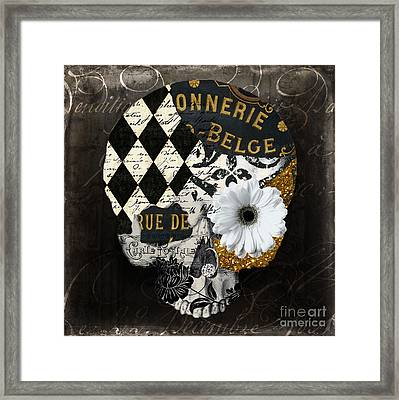 Halloween In Paris Framed Print by Mindy Sommers