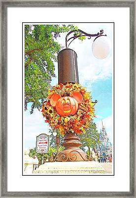 Halloween In Walt Disney World Framed Print