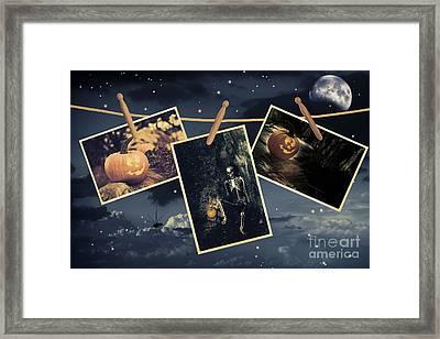 Halloween Line Framed Print