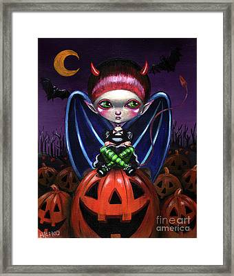Halloween Little Devil Framed Print