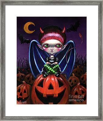 Halloween Little Devil Framed Print
