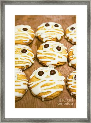 Halloween Little Monster Biscuits Framed Print by Jorgo Photography - Wall Art Gallery