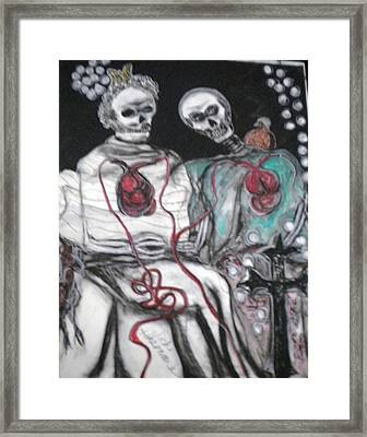 Halloween Love Framed Print by Victoria Hasenauer