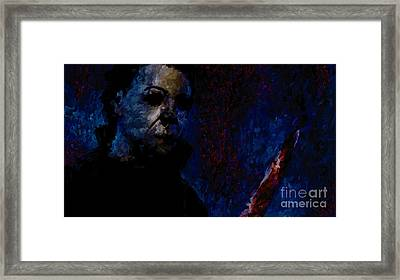 Halloween Michael Myers Signed Prints Available At Laartwork.com Coupon Code Kodak Framed Print by Leon Jimenez