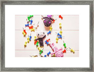 Halloween Monster Voodoo Dolls Framed Print
