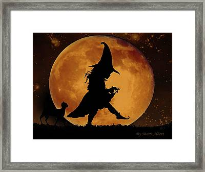 Halloween Moon Framed Print