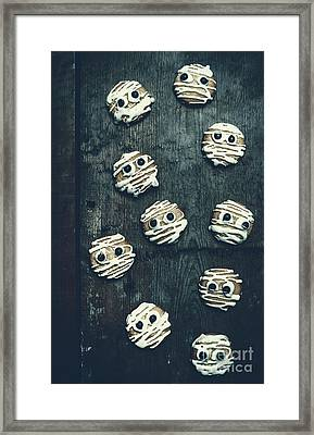 Halloween Mummy Cookies Framed Print