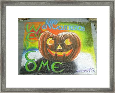 Halloween Ncohc Welcome Framed Print by Scarlett Royal
