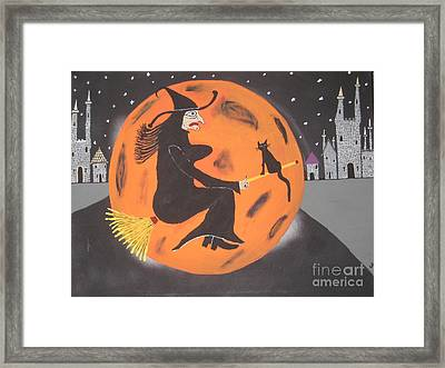 Framed Print featuring the painting Halloween Night At Disneyland by Jeffrey Koss