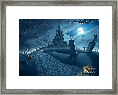 Halloween Night Framed Print by Giordano Aita