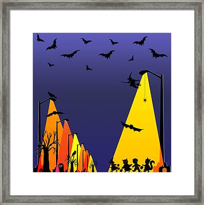 Halloween - Night Of Fun Framed Print