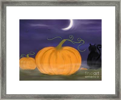 Halloween Night Framed Print by Roxy Riou