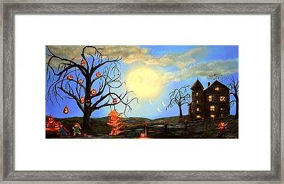 Halloween Night Two Framed Print