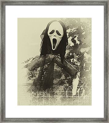 Halloween No 1 - The Scream  Framed Print