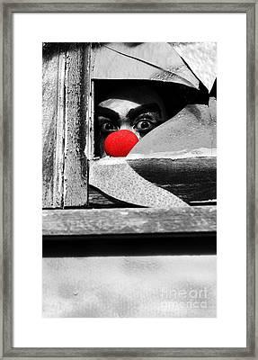 Halloween Peek A Boo Framed Print