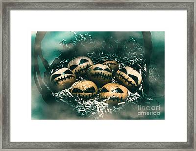 Halloween Picnic In The Dark Framed Print