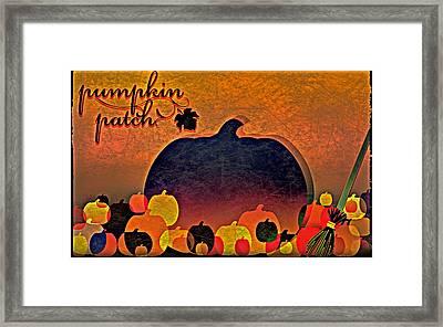 Halloween Pumpkin Patch Framed Print