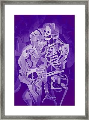 Halloween Skeleton Welcoming The Undead Framed Print