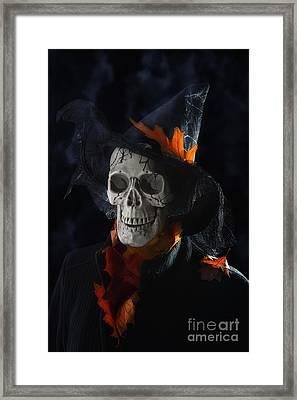 Halloween Skull Framed Print