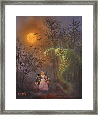 Halloween Spook Framed Print by Tom Shropshire