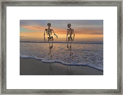 Halloween Stroll Framed Print