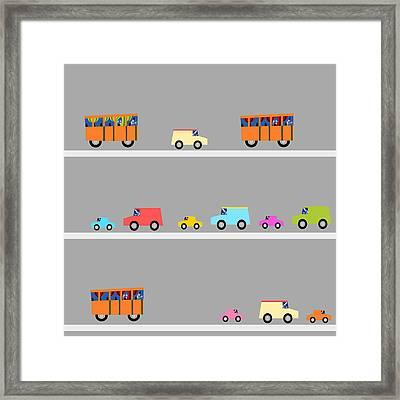 Halloween Traffic Framed Print