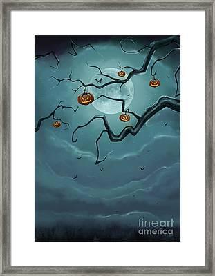 Halloween Tree Framed Print by Gosia O