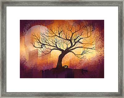 Halloween Tree Framed Print by Thubakabra