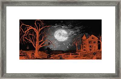 Halloween Tri Color Framed Print by Ken Figurski