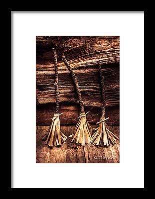 Broom Framed Prints