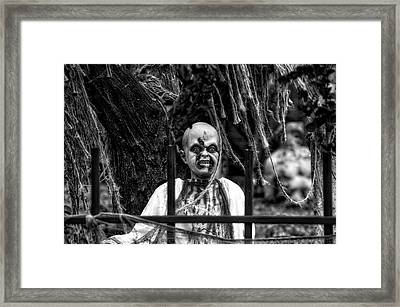 Halloween Zombies The Day After 04 Bw Framed Print by Thomas Woolworth