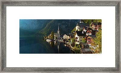 Hallstatt Pano Framed Print