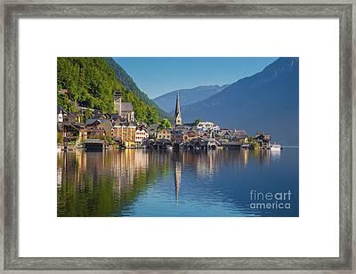 Hallstatt Reflections Framed Print
