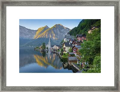Hallstatt Sunrise Framed Print