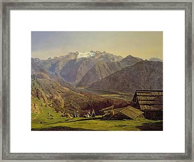 Hallstatter See Framed Print by Ferdinand Georg Waldmuller