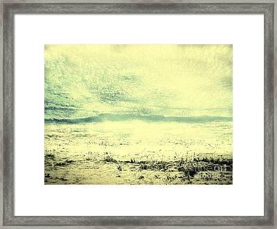 Hallucination On A Beach Framed Print