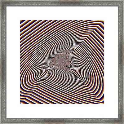 Hallucinations At Cheops Pyramid Foot. Framed Print by Tautvydas Davainis
