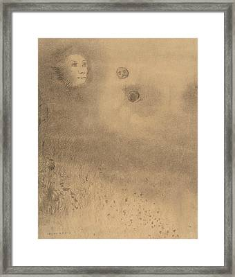 Hallucinations Framed Print by Odilon Redon
