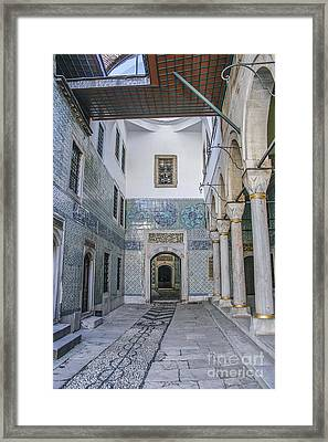 Hallway In Harem Of Topkapi  Framed Print by Patricia Hofmeester