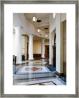 Hallway In Texas State Capitol Framed Print