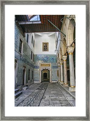 Hallway In The Harem Of The Topkapi Framed Print by Patricia Hofmeester