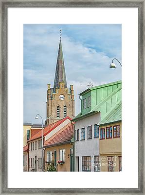 Framed Print featuring the photograph Halmstad Street Scene by Antony McAulay