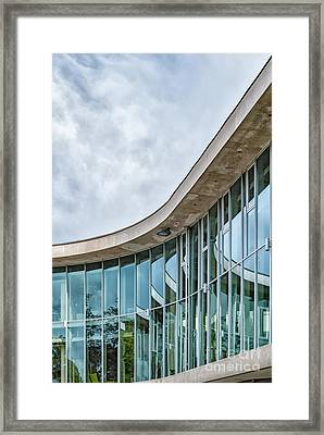 Framed Print featuring the photograph Halmstad University Labrary Detail by Antony McAulay
