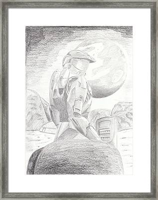 Halo Soldier Framed Print