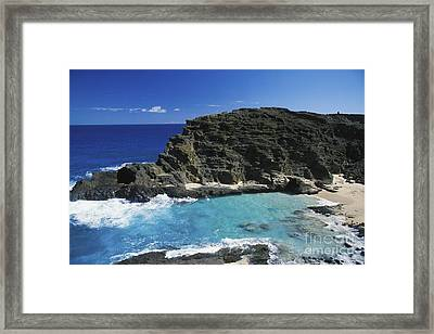 Halona Blow Hole Framed Print by Peter French - Printscapes